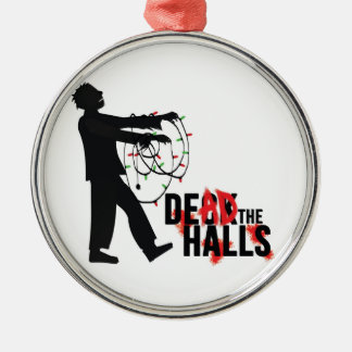 """DEAD THE HALLS"" Zombie Ornament"
