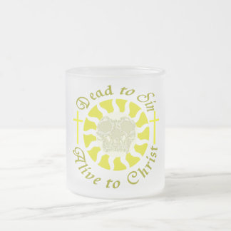 Dead to Sin - Alive to Christ Frosted Glass Mug