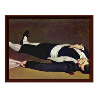 Dead Toreador By Manet Edouard Postcard