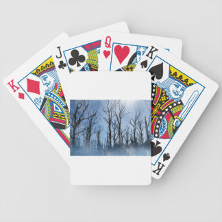 Dead Trees in Blue Bicycle Playing Cards
