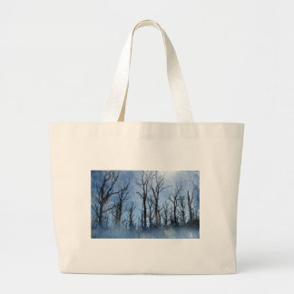 Dead Trees in Blue Large Tote Bag