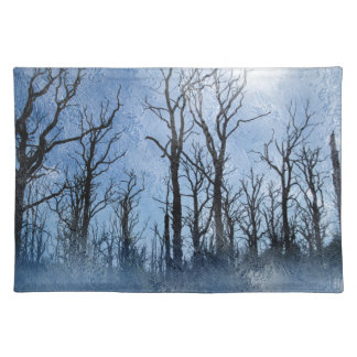 Dead Trees in Blue Placemat
