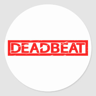Deadbeat Stamp Classic Round Sticker
