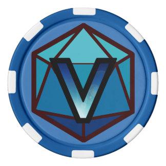DEADLANDS - Blue Team Poker Chip
