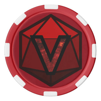 DEADLANDS - Red Team Poker Chip Poker Chip Set