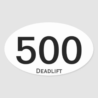 Deadlift 500 oval sticker