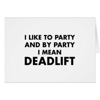 Deadlift Card