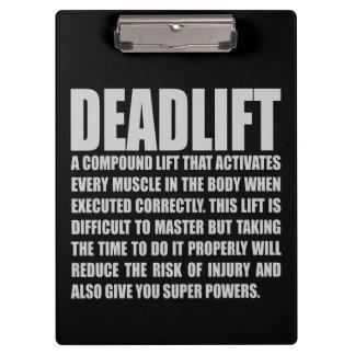 Deadlift - Funny Workout Motivational Clipboard