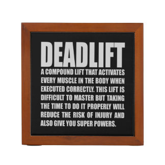 Deadlift - Funny Workout Motivational Desk Organizer