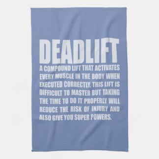 Deadlift - Funny Workout Motivational Kitchen Towel