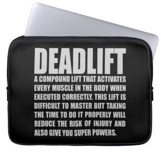 Deadlift - Funny Workout Motivational Laptop Sleeve