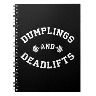 Deadlifts and Dumplings - Funny Bulking Novelty Notebooks