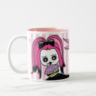 Deadly Cute™ Delilah Cupcake Time Two-Tone Coffee Mug
