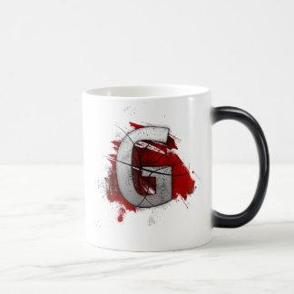 Deadly Design Monogram Letter G Magic Mug