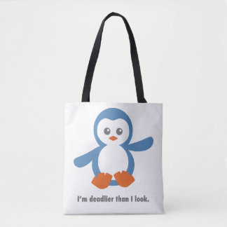 Deadly Penguin Tote Bag
