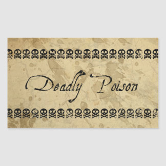 Deadly Poison Stickers (rectangle)