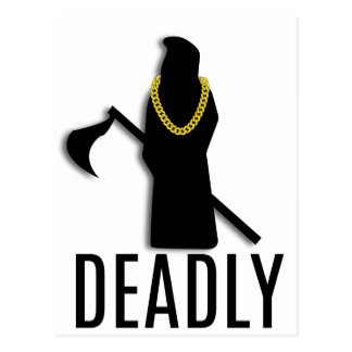 Deadly Repaer Gold Chain Postcard