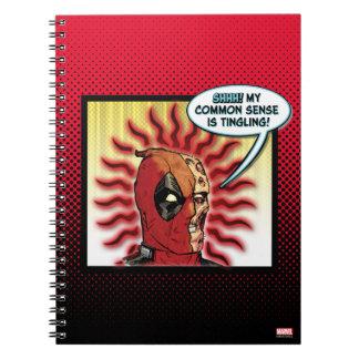 Deadpool Common Sense Spiral Notebook