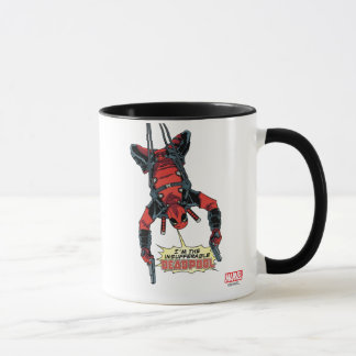 Deadpool Hanging From Harness Mug