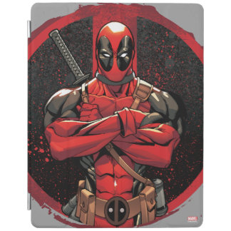 Deadpool in Paint Splatter Logo iPad Cover