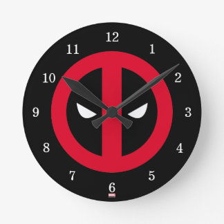 Deadpool Logo Round Clock