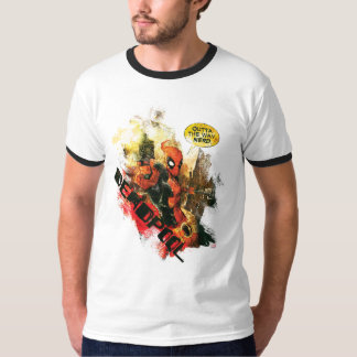 Deadpool Outta The Way Nerd T-Shirt