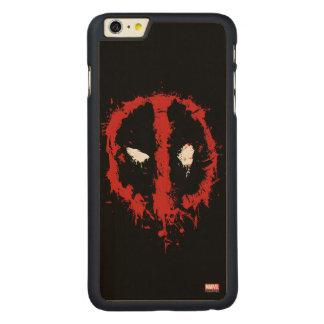 Deadpool Paint Splatter Logo Carved Maple iPhone 6 Plus Case
