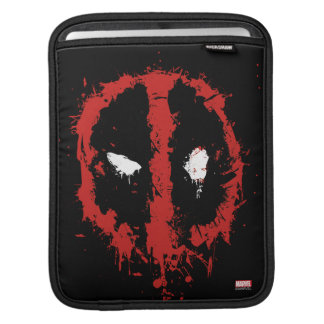 Deadpool Paint Splatter Logo iPad Sleeve