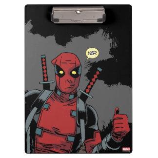 Deadpool Yep Clipboard