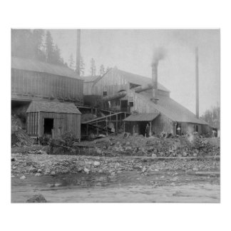 Deadwood and Delaware Smelter Photograph Poster