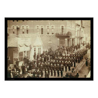 Deadwood Grand Lodge IOOF Street  Parade SD 1890 Poster