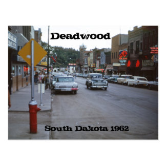 Deadwood South Dakota Retro 1962 Postcard