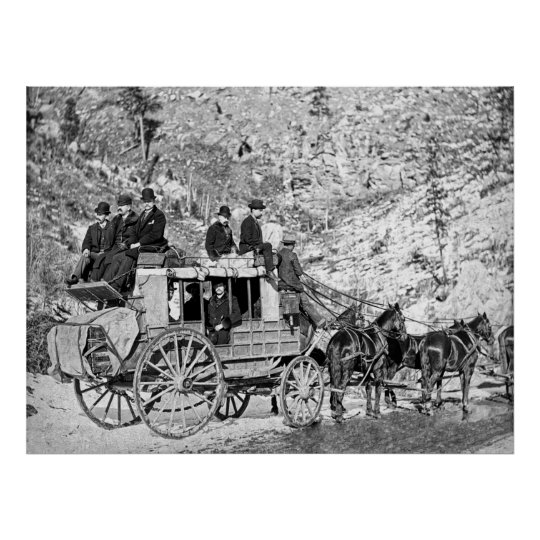 DEADWOOD STAGECOACH in 1889 Poster