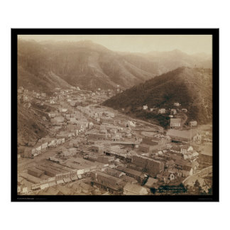 Deadwood View from Mt. Moriah SD 1888 Poster