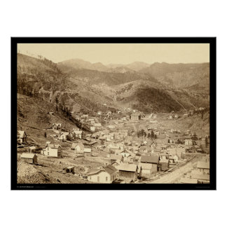Deadwood Viewed from Engleside SD 1888 Poster