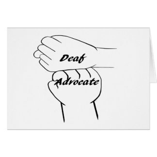 Deaf Advocate Card