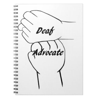 Deaf Advocate Notebooks