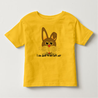 Deaf Bunny: Left Ear Deaf Kids Shirt