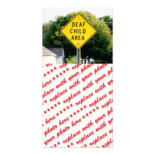 Deaf Child Area Custom Photo Card