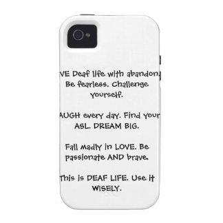 Deaf Live Laugh Love iPhone 4 Case