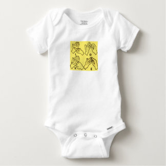 """Deaf Love"" by Axel Bottenberg Baby Onesie"