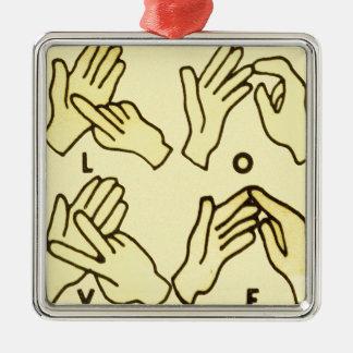 """Deaf Love"" by Axel Bottenberg Metal Ornament"