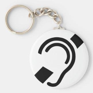 Deaf Symbol Keychain