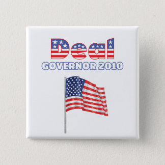 Deal Patriotic American Flag 2010 Elections 2 Inch Square Button
