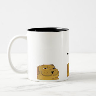 Deal with it dog. Two-Tone coffee mug