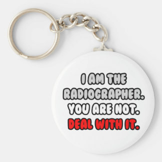 Deal With It ... Funny Radiographer Keychain