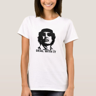 Deal With It Muammar Gaddafi T-Shirt