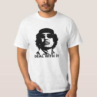 Deal With It Muammar Gaddafi T-Shirt