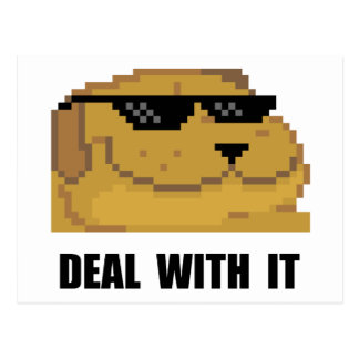 Deal With It Postcard