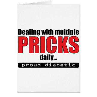 Dealing with Multiple Pricks Daily (Red) Greeting Card